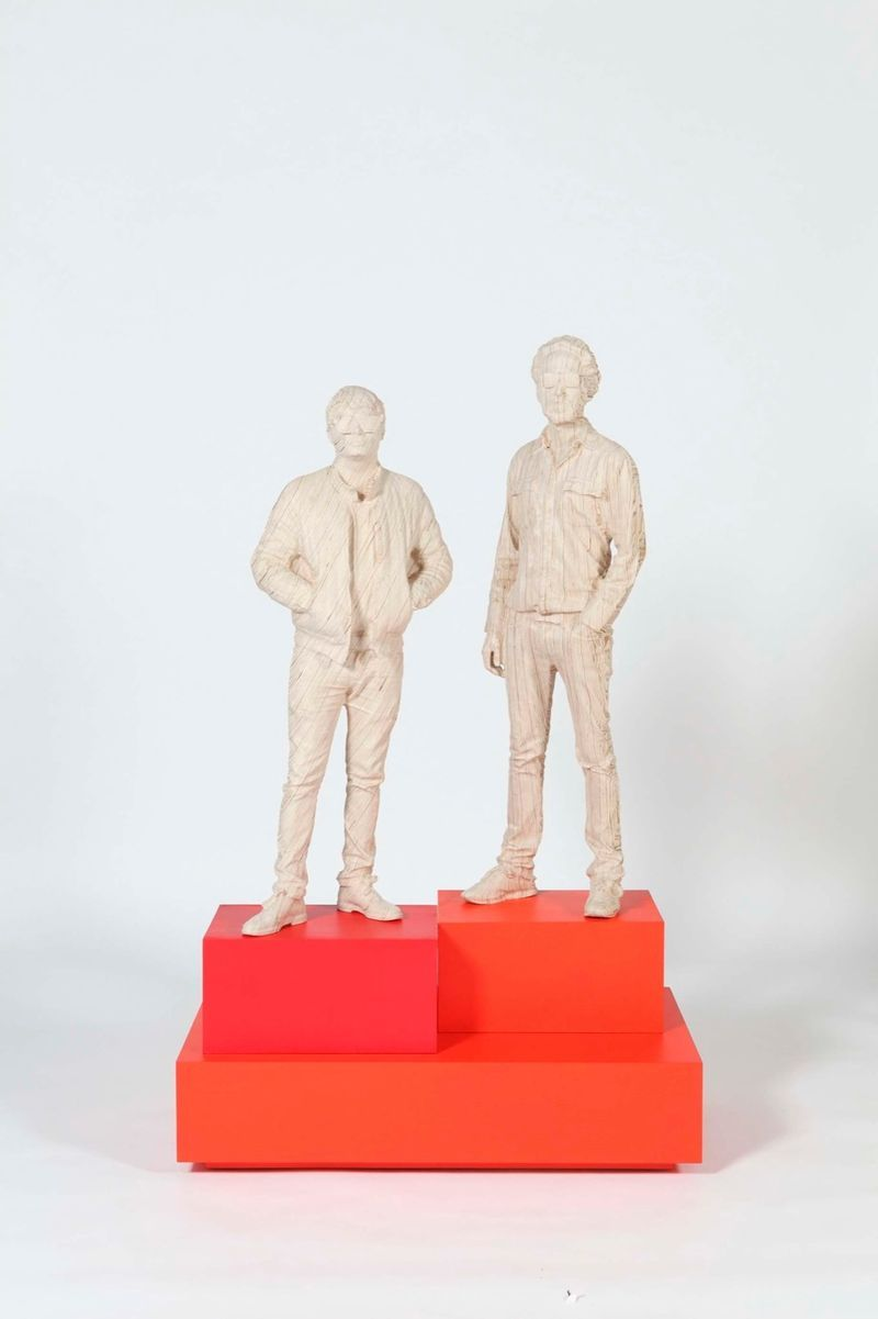 """Thomas Bangalter & Guy Manuel de Homen Christo"" 2015 / Contreplaqué de bouleau / Birch plywood / 161 x 100 x 55 cm / 63 1/2 x 39 1/4 x 21 3/4 inches / Unique"