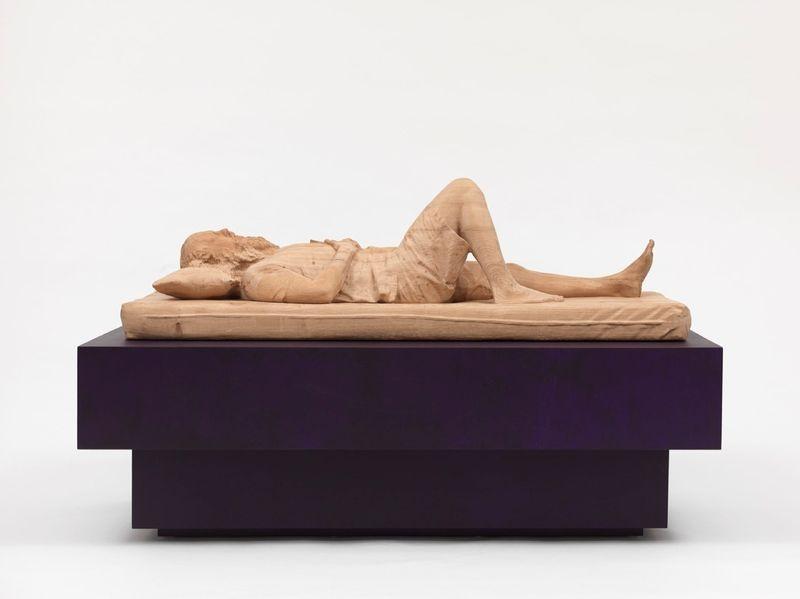 """""""Rick Rubin""""  2015 / Chêne, contreplaqué, peinture acrylique, vernis / Oak, plywood, acrylic paint, varnish / 76 x 142 x 70 cm / 30 x 56 x 27 1/2 inches / Unique"""