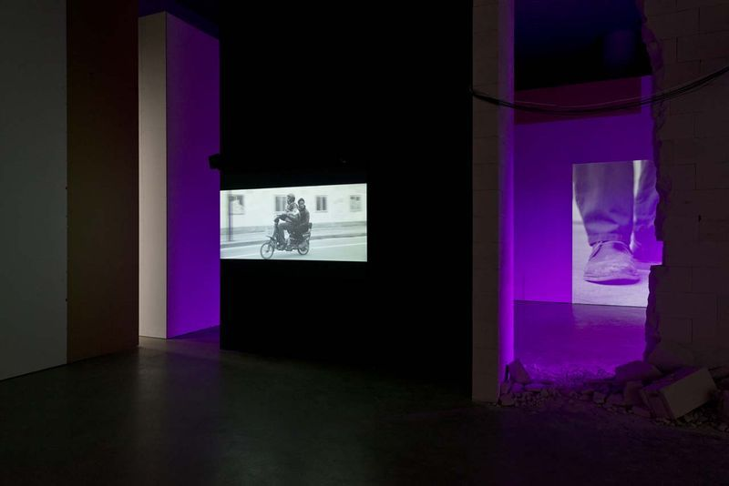 """View of the exhibition """" Jesper Just - APPEARING / INTERCOURSES """" at ARoS, Aarhus (Denmark), 2014"""