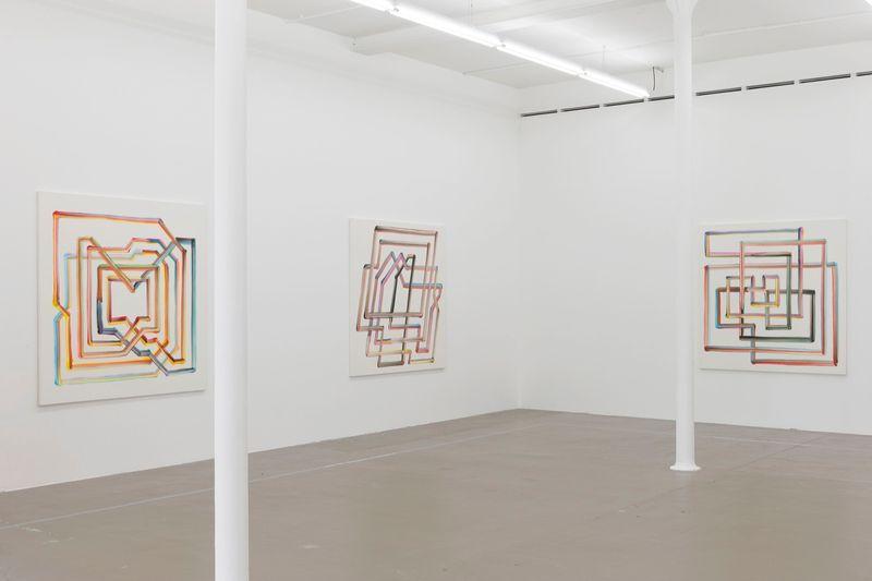"Bernard_Frize_View of the exhibition ""Gunter Umberg Bernard Frize"" at Fondation Fernet Branca  Saint Louis (France), 2015_9168_1"