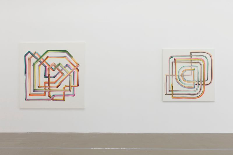 "Bernard_Frize_View of the exhibition ""Gunter Umberg Bernard Frize"" at Fondation Fernet Branca  Saint Louis (France), 2015_9170_1"