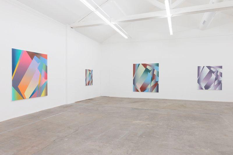 "Bernard_Frize_View of the exhibition ""Gunter Umberg Bernard Frize"" at Fondation Fernet Branca  Saint Louis (France), 2015_9174_1"