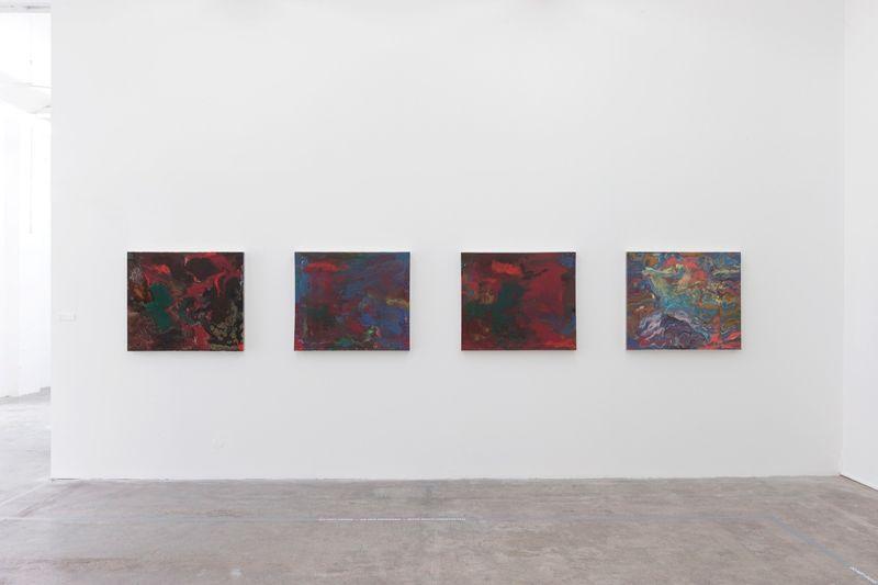 "Bernard_Frize_View of the exhibition ""Gunter Umberg Bernard Frize"" at Fondation Fernet Branca  Saint Louis (France), 2015_9175_1"
