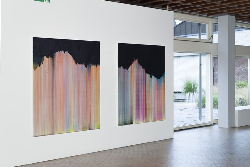 "Bernard_Frize_View of the exhibition ""AWARD : Käthe-Kollwitz Prize"" at Berlin Academy for Art  Berlin (Germany), 2015_9635_1"