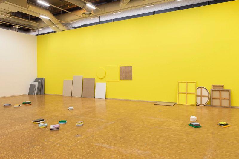 """Claude_Rutault_View of the exhibition """"d'où je viens où j'en suis où je vais"""" curated by Michel Gauthier  at Centre Georges Pompidou Paris (France), 2015_9709_1"""