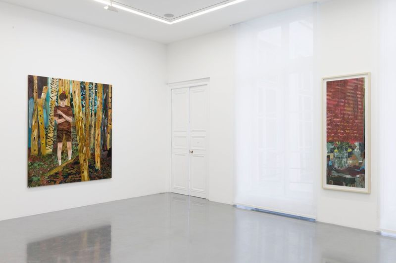 """Hernan_Bas_View of the exhibition """"Fruits and Flowers"""" at Perrotin Paris (France), 2015_9712_1"""