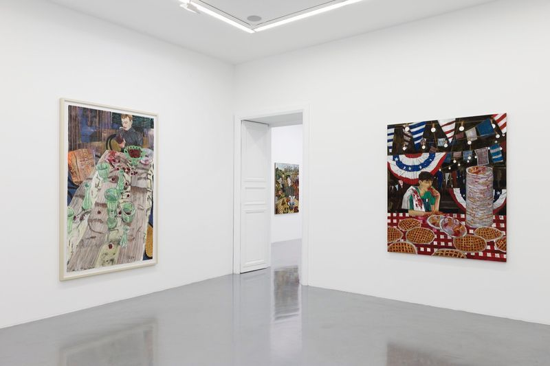 """Hernan_Bas_View of the exhibition """"Fruits and Flowers"""" at Perrotin Paris (France), 2015_9714_1"""