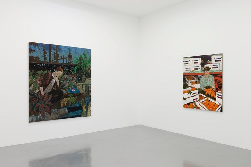 """Hernan_Bas_View of the exhibition """"Fruits and Flowers"""" at Perrotin Paris (France), 2015_9715_1"""