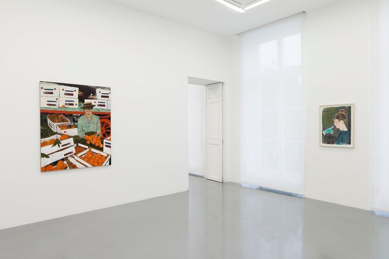 """Hernan_Bas_View of the exhibition """"Fruits and Flowers"""" at Perrotin Paris (France), 2015_9716_1"""