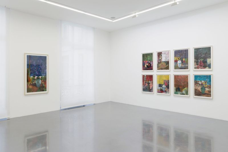 """Hernan_Bas_View of the exhibition """"Fruits and Flowers"""" at Perrotin Paris (France), 2015_9717_1"""