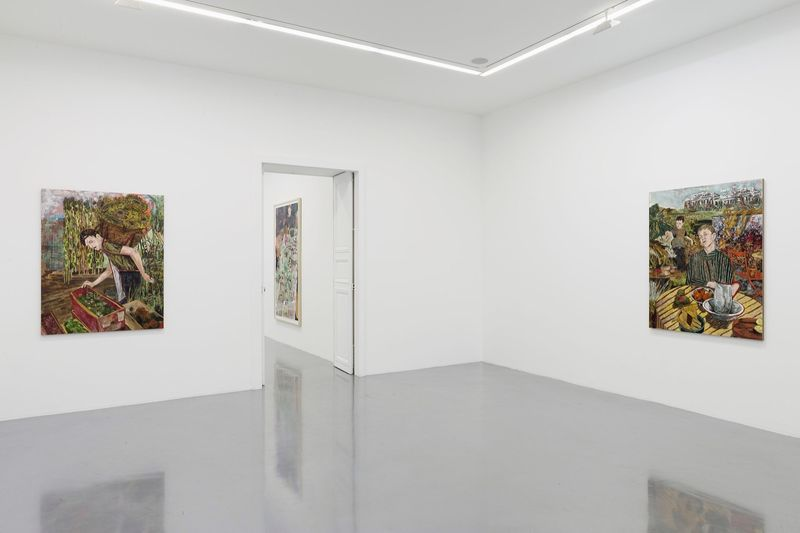 """Hernan_Bas_View of the exhibition """"Fruits and Flowers"""" at Perrotin Paris (France), 2015_9718_1"""