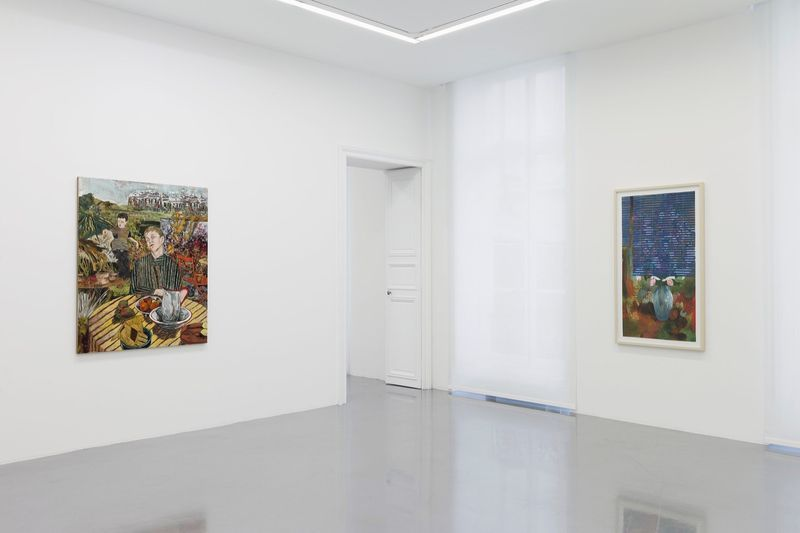 """Hernan_Bas_View of the exhibition """"Fruits and Flowers"""" at Perrotin Paris (France), 2015_9719_1"""