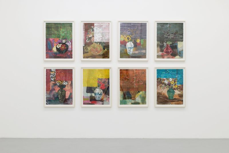 """Hernan_Bas_View of the exhibition """"Fruits and Flowers"""" at Perrotin Paris (France), 2015_9720_1"""