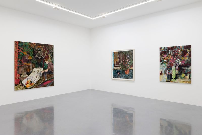 """Hernan_Bas_View of the exhibition """"Fruits and Flowers"""" at Perrotin Paris (France), 2015_9721_1"""
