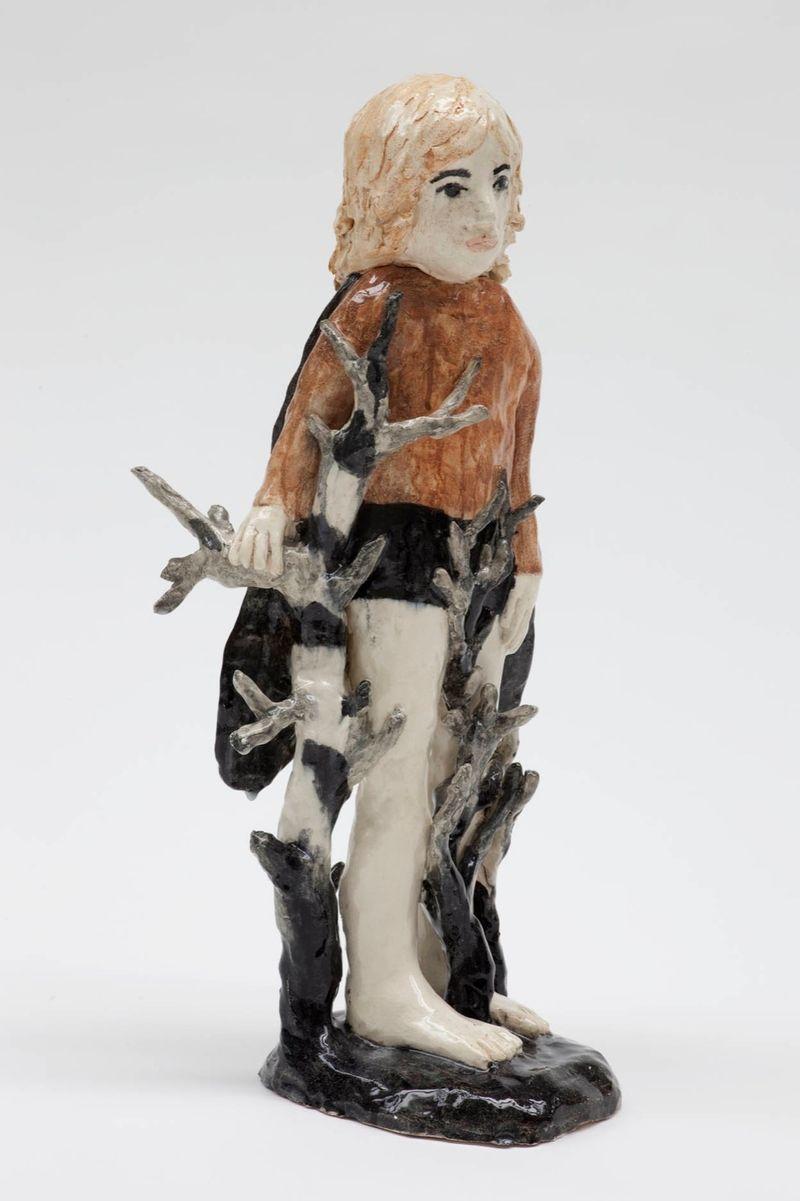 """Klara Kristalova,""""He flies at night"""", 2011, glazed stoneware, unique, private collection"""