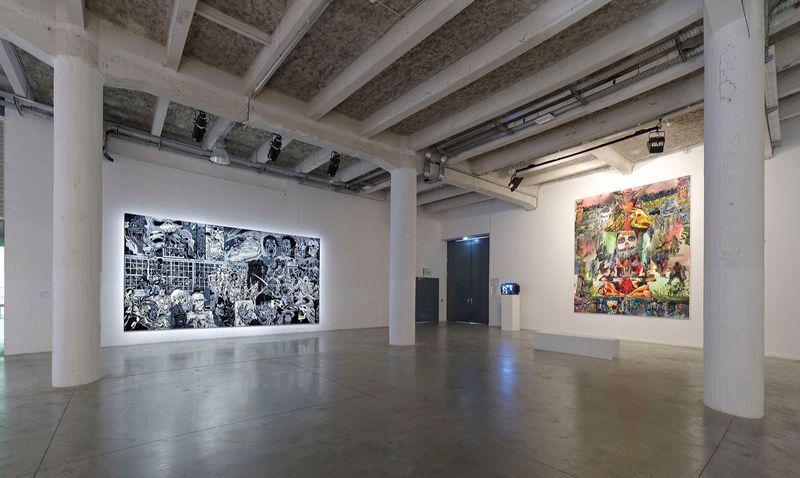 "Erro_View of the exhibition ""Biennale de Lyon "" curated by Gunnar B. Kvaran  at La sucrière  Lyon (France), 2013_9885_1"