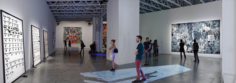 "Erro_View of the exhibition ""Biennale de Lyon "" curated by Gunnar B. Kvaran  at La sucrière  Lyon (France), 2013_9887_1"