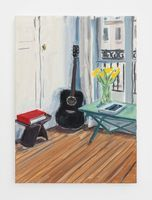 Black guitar and yellow tulips | Jean-Philippe DELHOMME