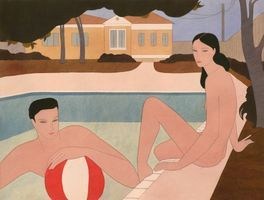 couple by the pool | Kelly BEEMAN