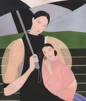 mother and child in the rain | Kelly BEEMAN