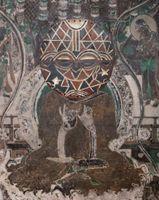 Evolution-Seated Buddha from the South Wall of Mogao Cave No.066, Teke Tsaye Mask / 進化-莫高窟066窟主室南壁坐佛、Teke Tsaye Mask | XU ZHEN®