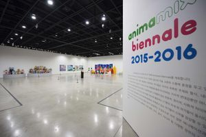 "View of the group exhibition ""Animamix Biennale "" curated by So Young Ryu  at Daegu Art Museum  Daegu (South Korea), 2015 