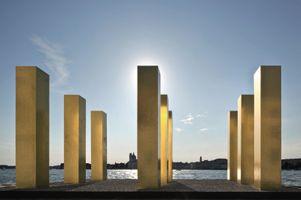 """The Sky Over Nine Columns"" at Venice Biennial  Venice (Italy), 2014 | Heinz MACK"