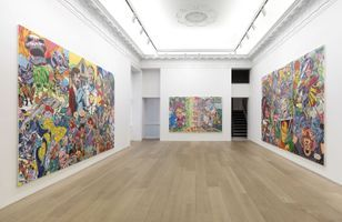 "View of the exhibition ""Erró - Paintings from 1959 to 2016"" at 909 Madison Avenue  New York (USA), 2016 