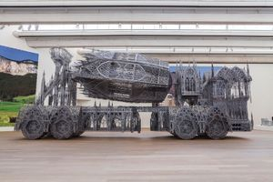 "View of the exhibition ""Wim Delvoye"" at MUDAM Luxembourg (Luxembourg), 2016 