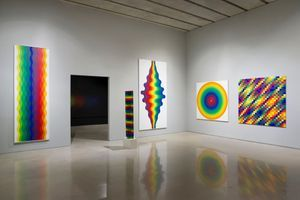 "Vue de l'exposition ""Julio Le Parc : Form into Action"" curated by Estrellita B. Brodksy  à Pérez Art Museum  Miami (USA), 2016 