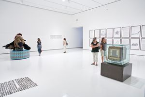 "View of the exhibition ""Your Bright Future: 12 Contemporary Artists from Korea"" at LACMA Los Angeles (USA), 2009 