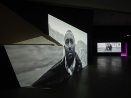 "View of the exhibition ""Jesper Just"" at EYE Filmmuseum Amsterdam (Pays-Bas), 2017 