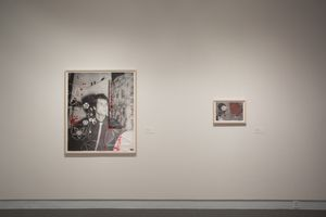 "View of the exhibition ""Hernan Bas: The Paper Crown Prince and Other Works"" at COLBY MUSEUM OF ART Waterville (USA), 2018 