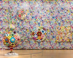 "Vue de l'exposition ""TAKASHI MURAKAMI: THE OCTOPUS EATS ITS OWN LEG"" à Modern Art museum of Fort Worth  Fort Worth (USA), 2018 