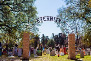 "View of the exhibition ""Eternity"" at Art Basel Cities Week Buenos Aires (Argentina) 