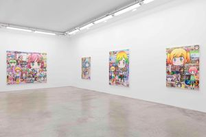 """View of the exhibition """"Mr.'s Melancholy Walk Around the Town"""" at GALERIE PERROTIN Paris (France), 2019 