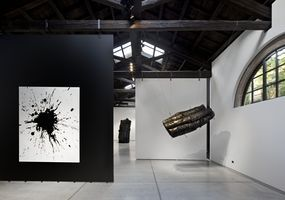 "View of the exhibition ""Venice Wood Water"" at Wilmotte Foundation Venice (Italy) 