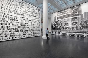 "View of the exhibition ""JR: Chronicles"" at Brooklyn Museum  Brooklyn (USA), 2019 