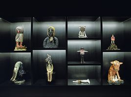 "聯展現場圖 ""Beyond the Vessel I Myths, Legends, and Fables in Contemporary Ceramics around Europe"" curated by Catherine Milner  于 Meşher  İstanbul (Turkey), 2019 