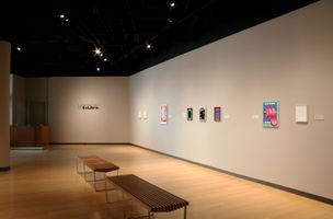 "View of the exhibition ""Ex Libris"" at Rockefeller Arts Center, State University of New York at Fredonia Fredonia (USA) 