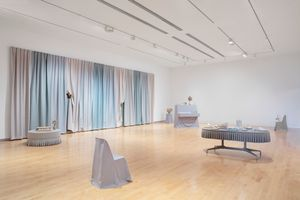 """View of the exhibition """"Through the Eye of a Needle"""" curated by Amy Smith-Stewart  at The Aldrich Contemporary Art Museum Ridgefield (USA), 2020 