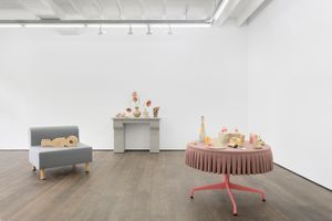 """View of the exhibition """"The Party's Over"""" at Rodolphe Janssen Bruxelles (Belgium) 