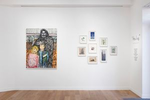 """View of the group exhibition """"Healing"""" curated by Takashi Murakami  at GALERIE PERROTIN Paris (France) 