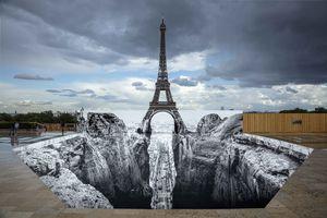 at Esplanade des droits de l'homme - Trocadéro Paris (France) | JR