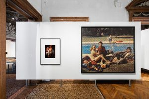 """View of the group exhibition """"Stop Painting"""" at Fondazione Prada VENISE (Italy) 