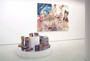 "View of the group exhibition ""T-junction"" at GALERIE PERROTIN  PARIS (France), 2004 