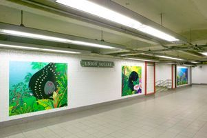 "View of the exhibition ""Union Square Subway Station Installation / 2005"" at Union Square Subway Station  (USA), 2005 