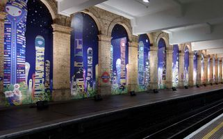 "View of the exhibition ""Gloucester Road Subway Station Installation "" at Gloucester Road Subway Station  (United Kingdom), 2006 