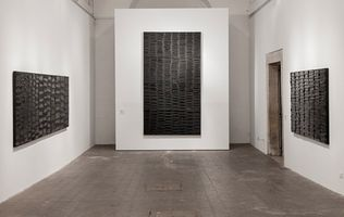 "View of the exhibition ""Soulages XXIe siècle"" at Villa Médicis,  Rome (Italy), 2013 