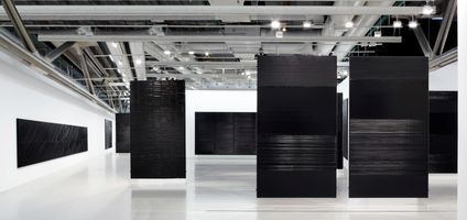 "View of the exhibition ""Soulages"" at Centre Georges Pompidou  Paris (France), 2010 